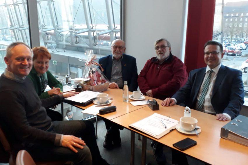 v.l. Bernd Zerbe, Dagmar Spangenberg-Mades, Dieter Sebastian, Erich Leichner, Dirk Plötzke.