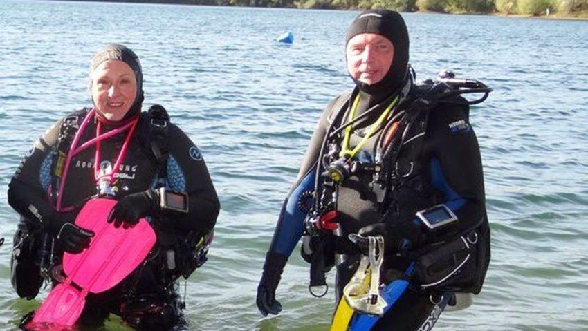 Die Herner Grauwale eröffneten im Widdauer-See die Tauchsaison 2020.