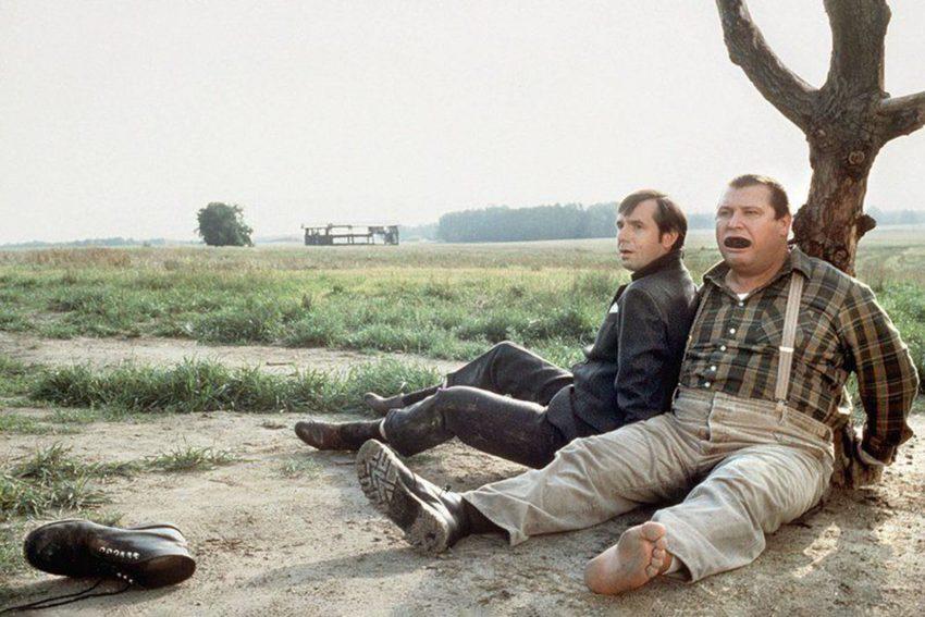 """Filmband in Gold für Joachim Król und Horst Krause (""""Darstellerische Leistung"""") beim Deutschen Filmpreis 1993. Film: Wir können auch anders."""