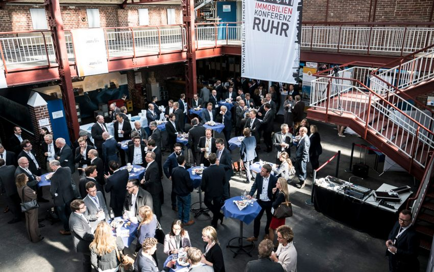 Bei der Immobilienkonferenz Ruhr.