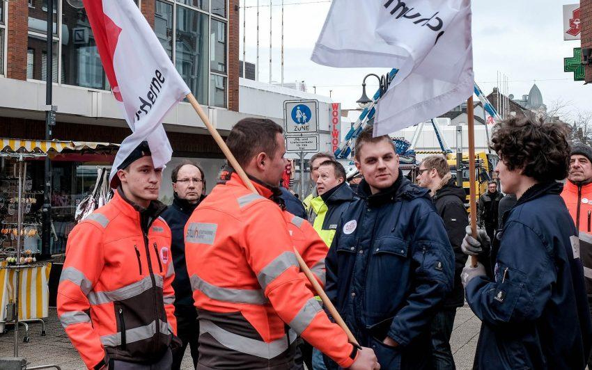 ver.di-warnstreik am Donnerstagt (8.3.2018)