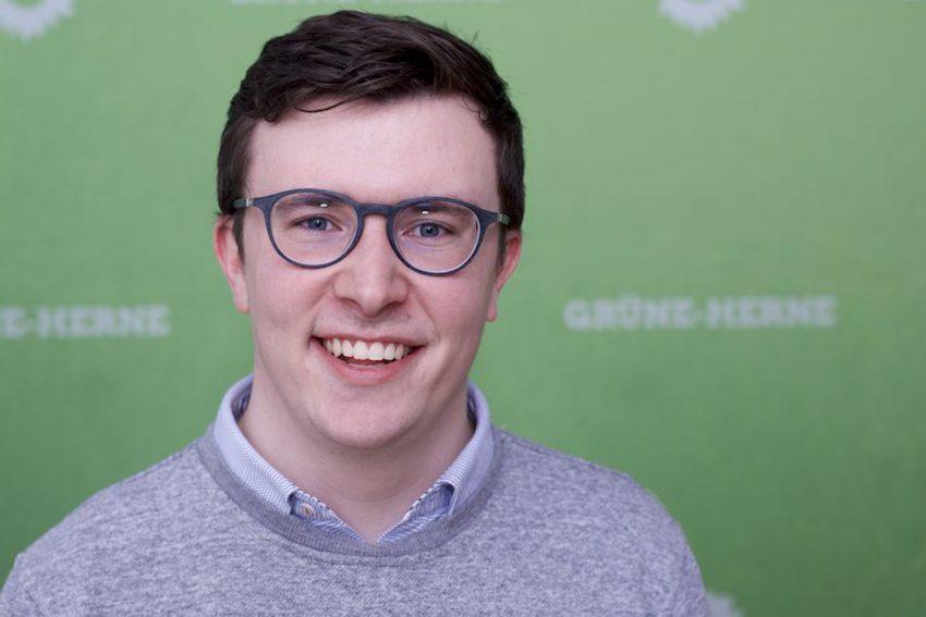 Fabian May, schulpolitischer Sprecher der Grünen. (April 2021)