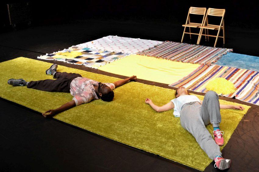 "Theater Kohlenpott ""Ich lieb dich!"". Zwei Kohlenpott-Debütanten feiern am 4. September 2021 Premiere in den Flottmann-Hallen: Roxana Safarabadi (r.) und Emmanuel Edoror."