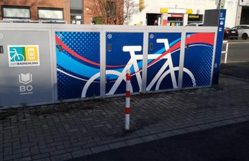 Fahrradbox am Marktplatz Bochum Riemke.