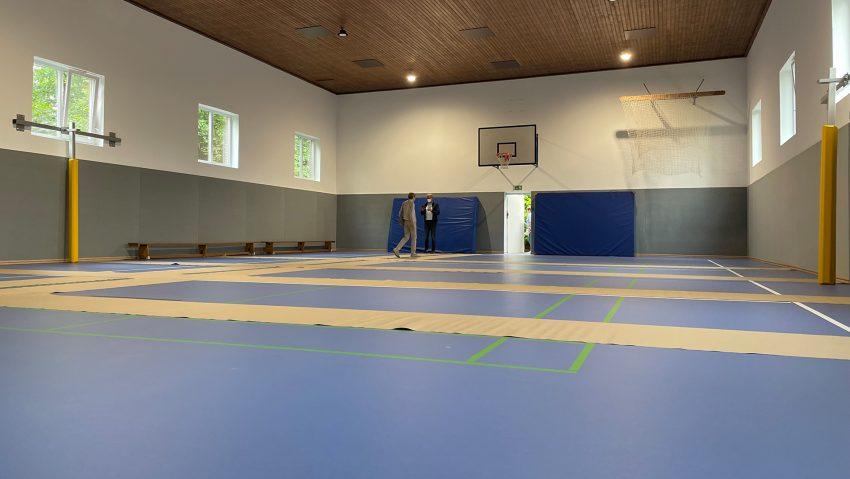 TV Wanne eröffnet renovierte Halle dank Förderung von Moderne Sportstätte 2022.