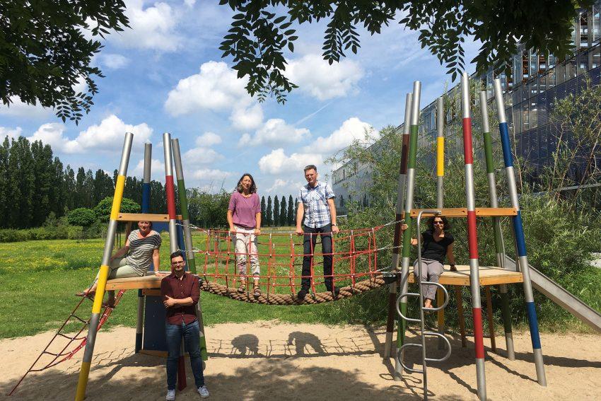 Projektgruppe Kinderfreundliche Stadt, v.l.: Sarah Gentilini, Armin Kurpanik, Claudia Lemke, Hartmut Laskowski und Nuray Sülü.