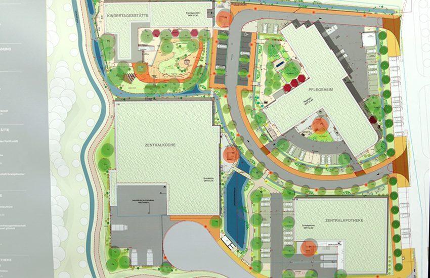 Der Lageplan des neuen Gebäudes.