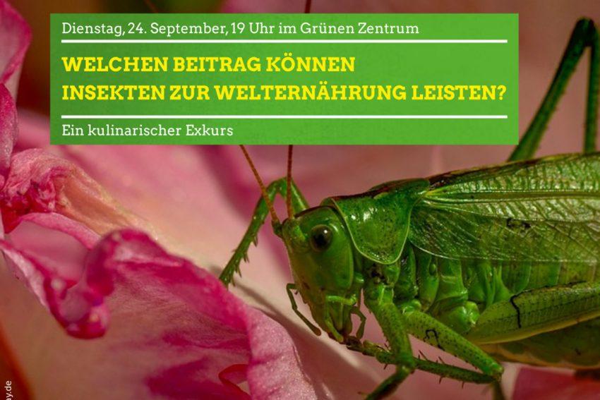 Insekten essen mit den Grünen.