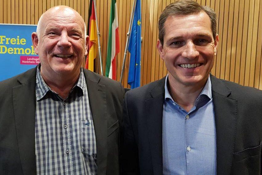 FDP Landtagsabgeordneter, Thomas Nückel, Sportmanager, Michael Mronz.