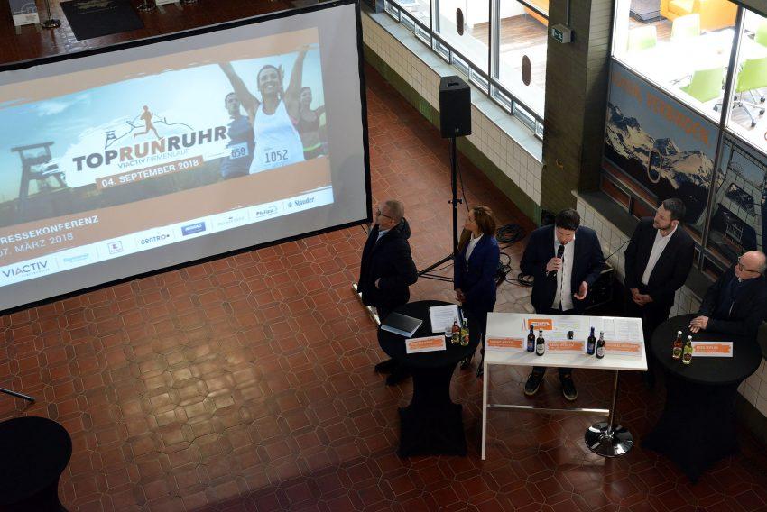 Pressekonferenz zum 1. TopRunViactiv Lauf auf der Halde Hoheward in Herten.