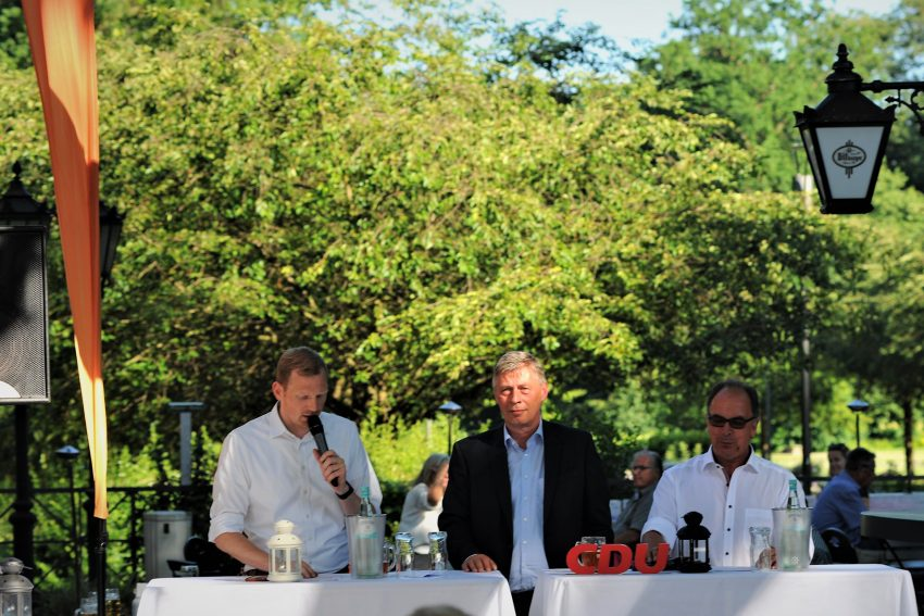 v.l. Timon Radicke, Bodo Löttgen, Fraktionsvorsitzender der CDU NRW und Frank Heu.