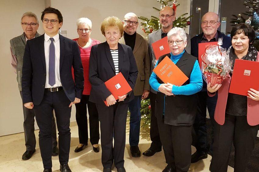 Jahresabschlussfeier und Ehrung beim SPD-Ortsverein Baukau West.
