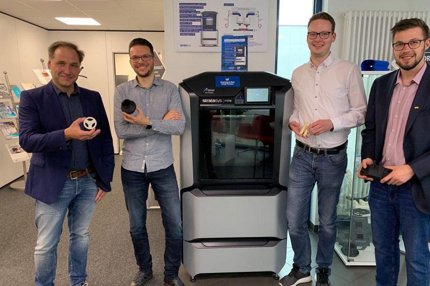 v.l. Thomas Bloch (FDP), Marcel Marquis (ISAP), Max Wiemers (Julis) und Manuel Wagner (Julis)