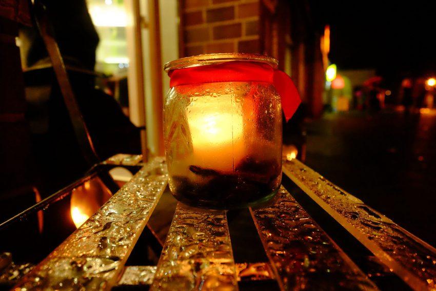 Die Aktion Nacht-Kerzen in Herten-Süd.
