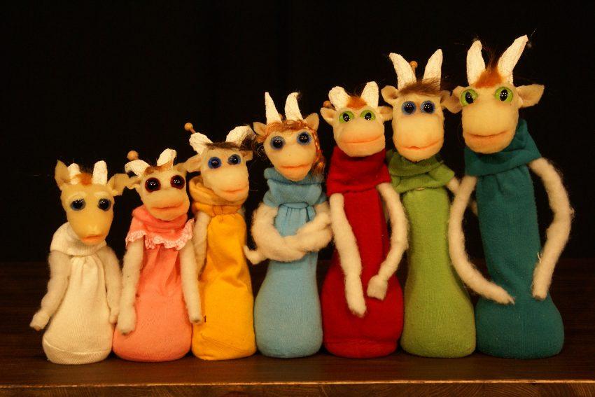 Das Figurentheater Eigentlich bringt die sieben Geißlein mit zum Strünkeder Sommer.