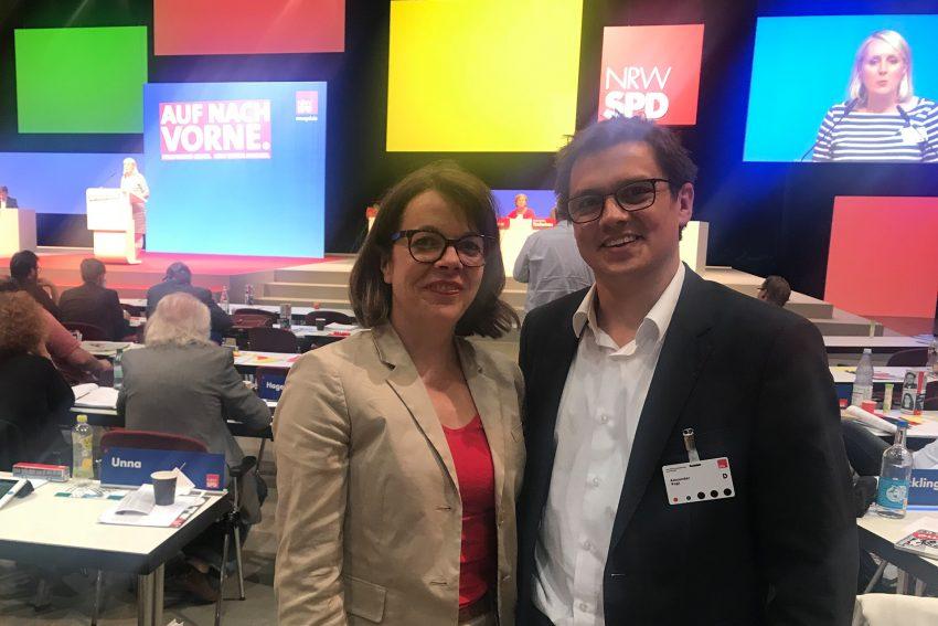 Die neue Generalsekretärin der NRW-SPD Nadja Lüders mit Alexander Vogt MdL.