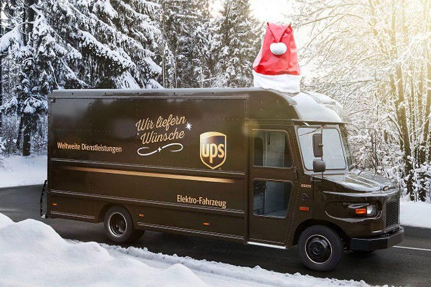 Der UPS-Weihnachtstruck.
