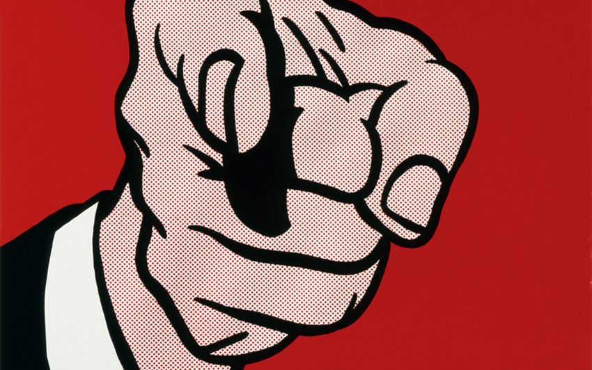 Roy Lichtenstein: Finger Pointing.