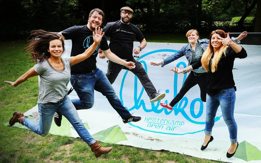 v.l. Alexandra Tisch (Jugendzentrum Heisterkamp), Jakob Terlau, Matthias Exner, Lena Lara Rudnik, Angelina Ouchani (alle Rockbüro).