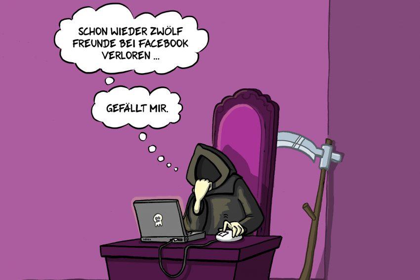 Karikatur von Michael Holtschulte.