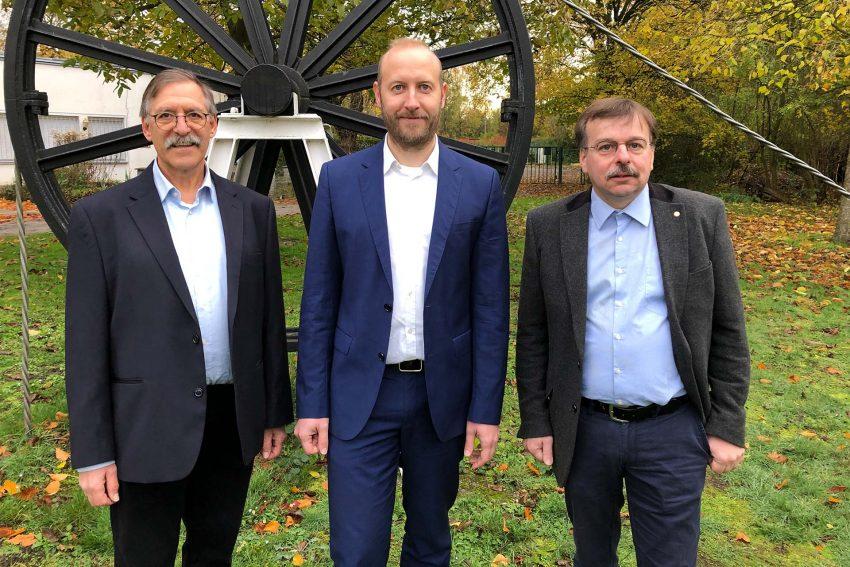 v.l. Wolfgang Pfeiffer, Andreas Reifschneider und Jörg Högemeier - SPD-Kanditaten Börnig/Holthausen.