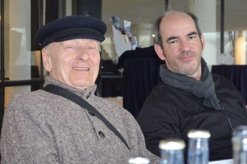 """Mario Brell mit """"Elbsegler"""" und Rasmus Baumann."""