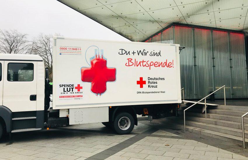 Blutspende-Aktion im Kulturzentrum.