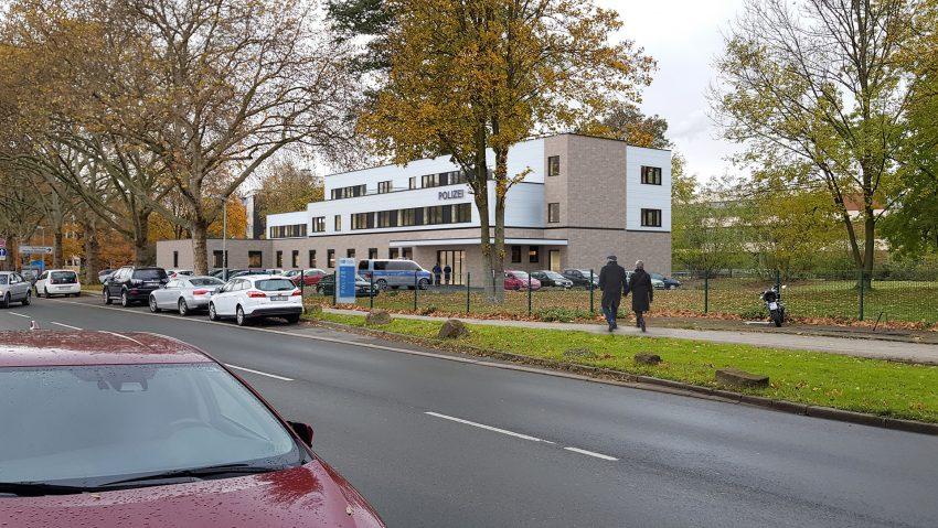 Neues Gebäude für die Polizei Herne an der Cranger Straße Ecke Harpener Weg, hier aus süd-östlicher Richtung.