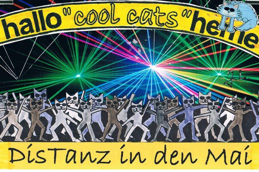 Die Cool Cats warnen auch beim 'Tanz in den Mai' die Dis-Tanz zu wahren.