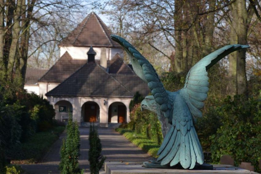 Süd-Friedhof an der Wiescherstraße.