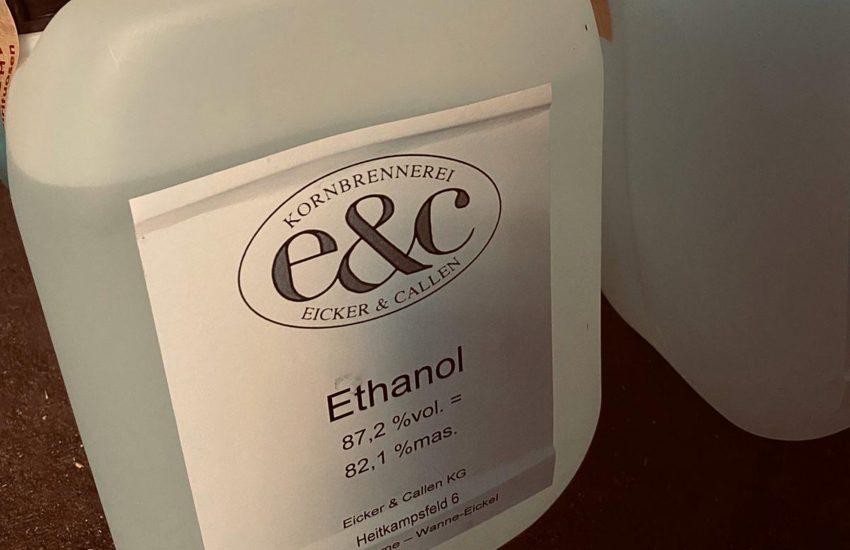 Drogerie Meinken spendete Ethanol.