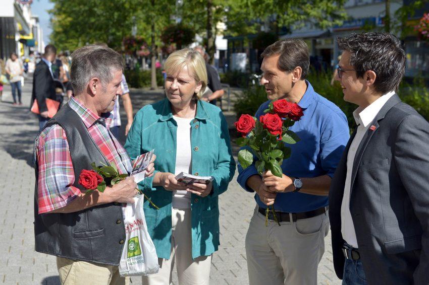 Hannelore Kraft im OB-Wahlkampf in Herne.