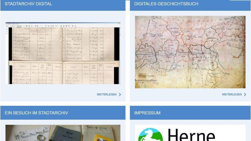 Das Stadtarchiv Herne baut sein digitales Angebot aus.