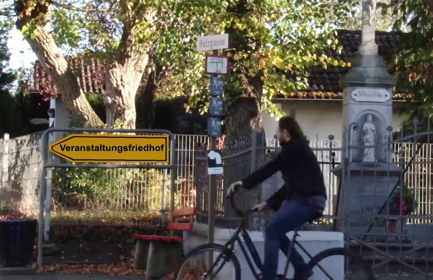 Klaus Spangenberg in dem Musik-Video 'Nicht systemrelevant'.