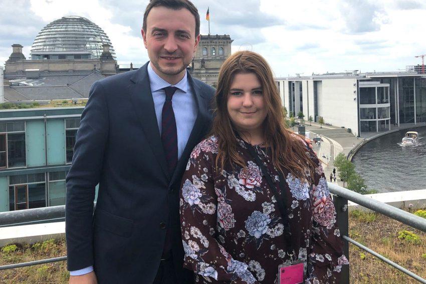 Paul Ziemiak und Lea Sobecki - Jugend im Parlament.