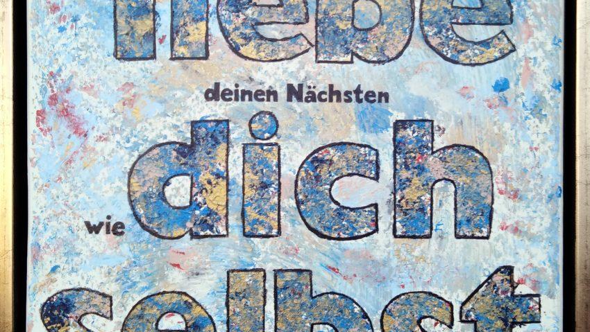 Liebe deinen Nächsten, wie dich selbst: Ein Werk von Jörg Lippmeyer und zu sehen in der Ausstellung