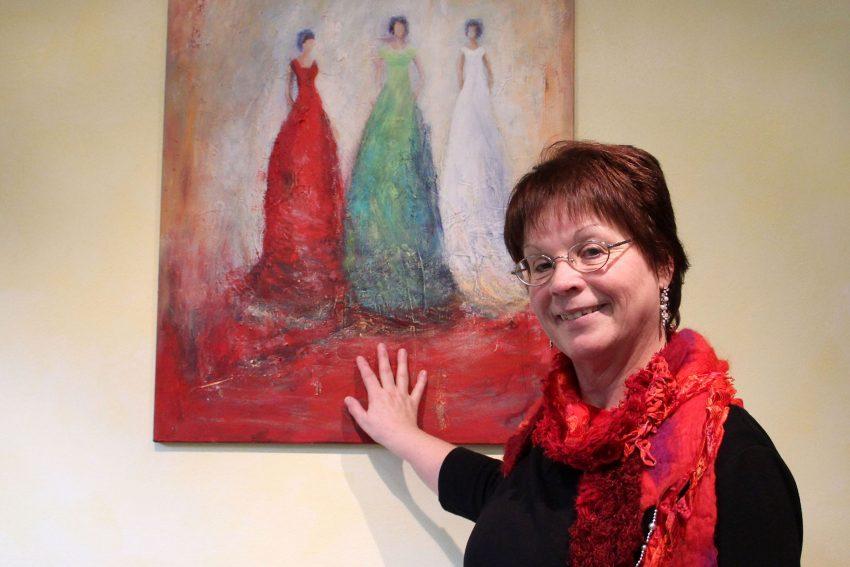 Die Herner Malerin und Grafikerin Inge Weber.