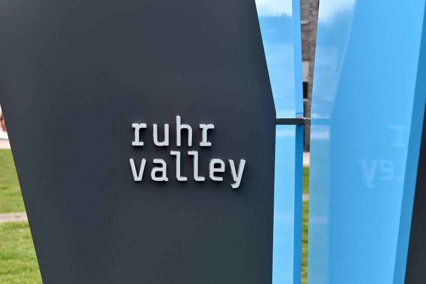 Die Ruhrvalley-Stele.
