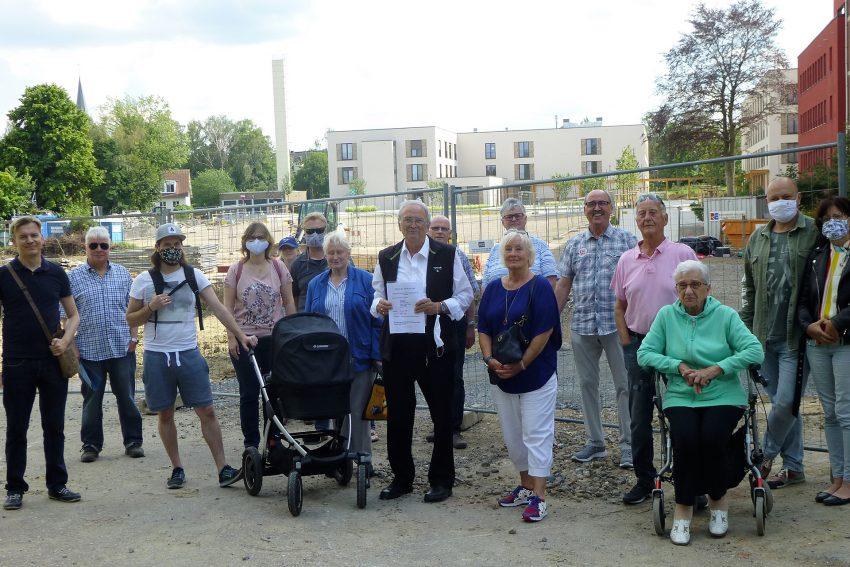Bürgersprechstunde mit Mathias Grunert mit Anwohnern der Widumer Straße.