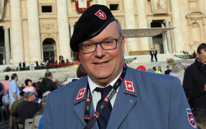 Malteser Helfer Thomas Renzel aus Dortmund.