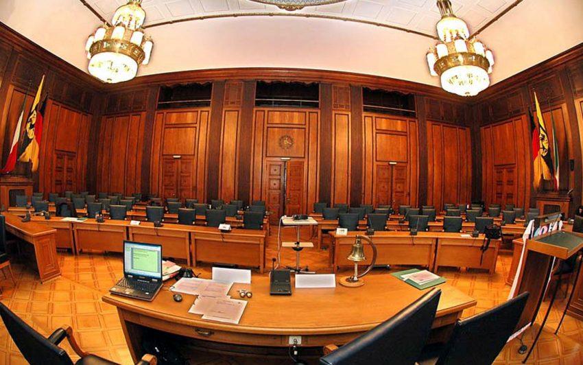 Der Ratsaal.