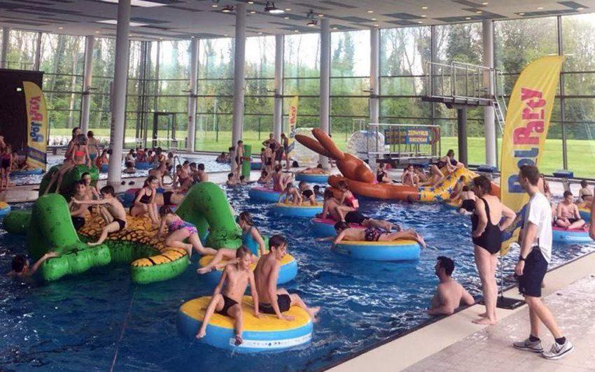 Bei der Pool-Party am Samstag.