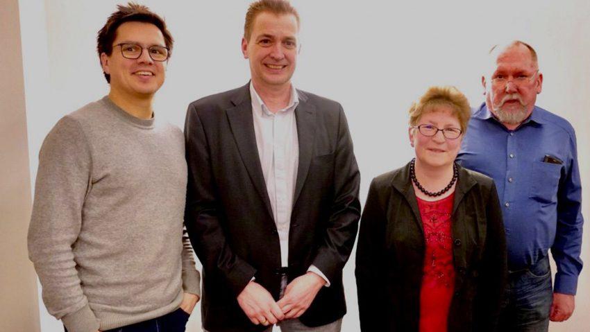 Neuer Vorstand des SPD Ortsvereins Altenhöfen (v.li.): Alexander Vogt, Kai Gera, Andrea Scholz und Dirk Karpinski.