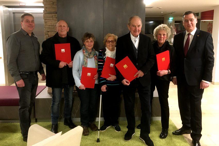 v.l. Roberto Gentilini, Hans-Joachim Gövert, Christa Jeckel, Ingrid Gentilini, Jürgen Böttcher, Margrit Steiner, Udo Sobieski