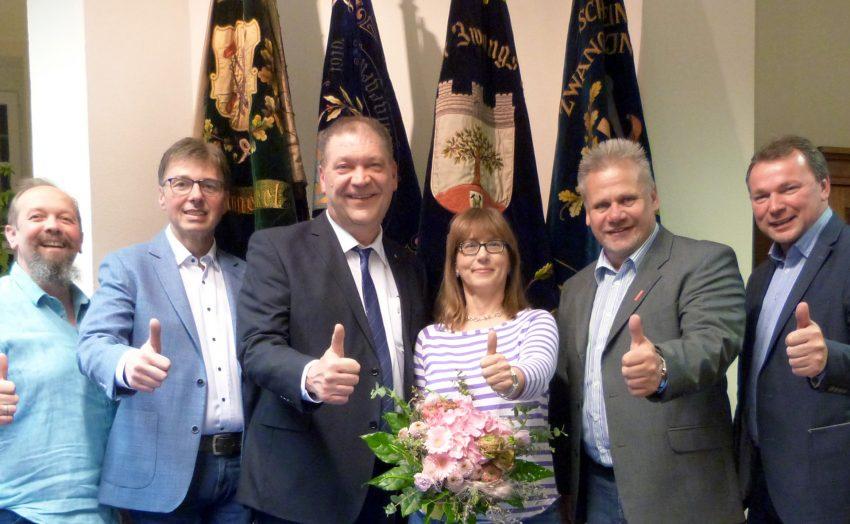 v.l. Jörg Böhlke, Rüdiger Sprick, Martin Klinger, Sabine Meißner, Hans-Joachim Drath, Bernd Molke.