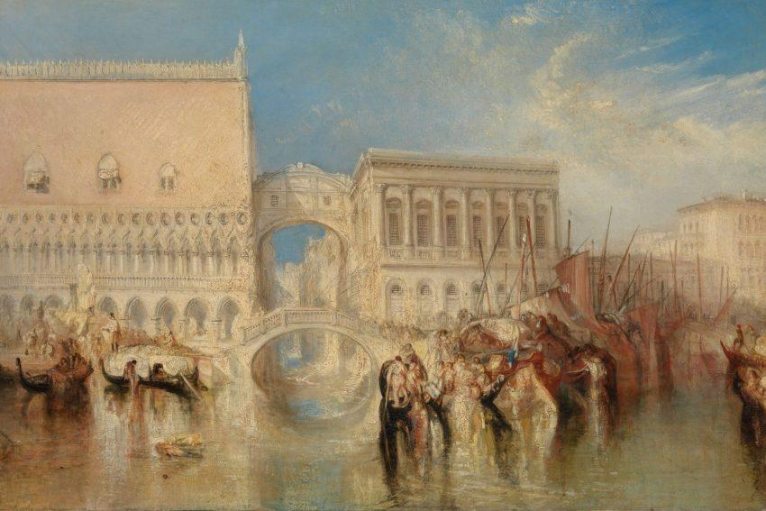 William Turner Ausstellung in Münster: Venice; the Bridge of Sighs.