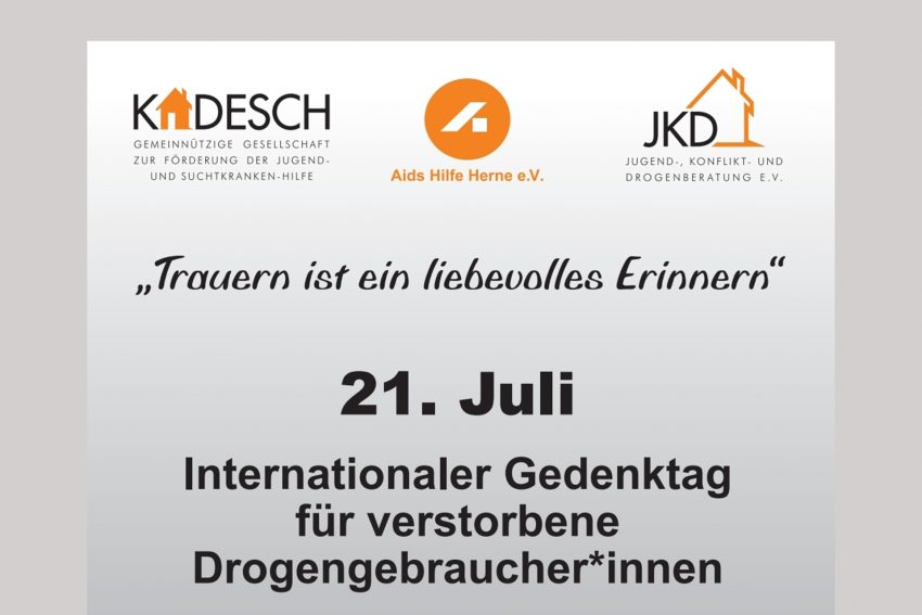 Am 21. Juli findet am Buschmannshof der Internationale Gedenktag für Drogentote statt.