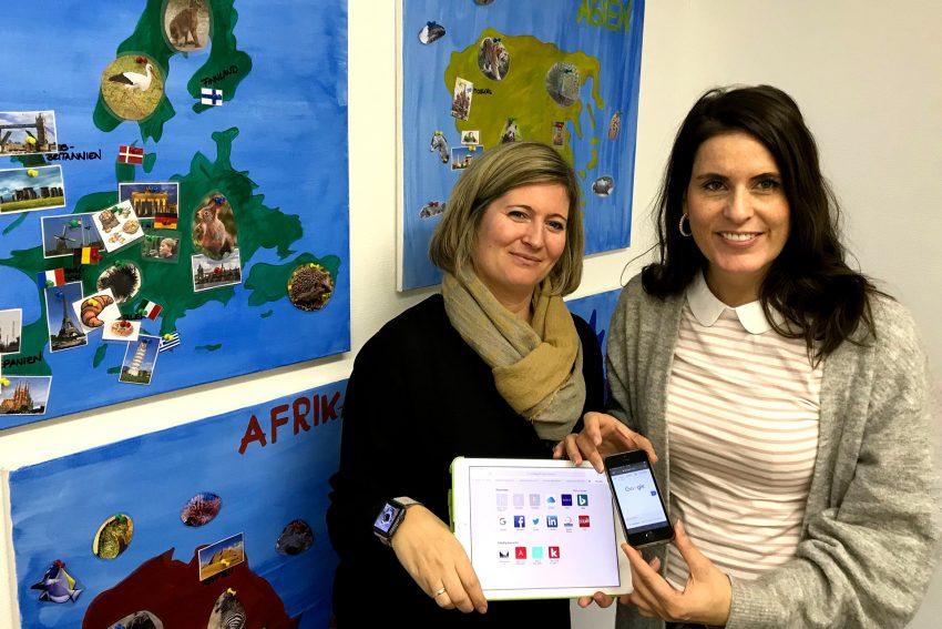 v.l. Tina Diebel (OGS-Fachbereichsleiterin) und Maria Hagemeister (Leiterin des Kindergartenwerks bei der AWO Ruhr-Mitte und gleichzeitig Kinderschutzfachkraft).