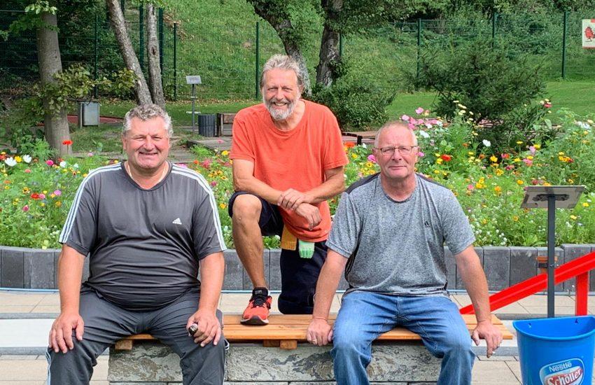 Rudolf Ginschel, Willi Hettrich und Joachim Garden.