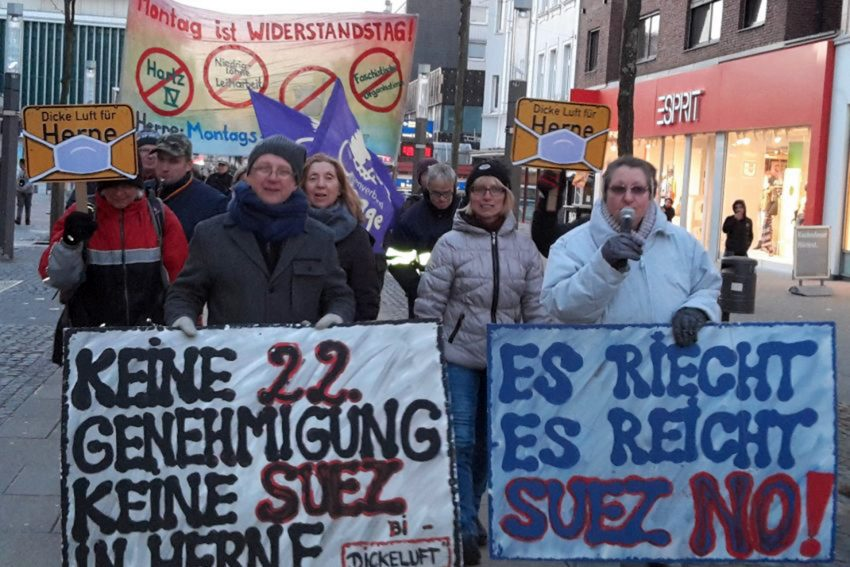 Montagsdemo in Herne. (Archiv)